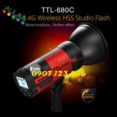 Đèn ngoại cảnh NiceFoto TTL680C 680W TTL 2.4G Wireless HSS 1/8000S Studio Flash Outdoor